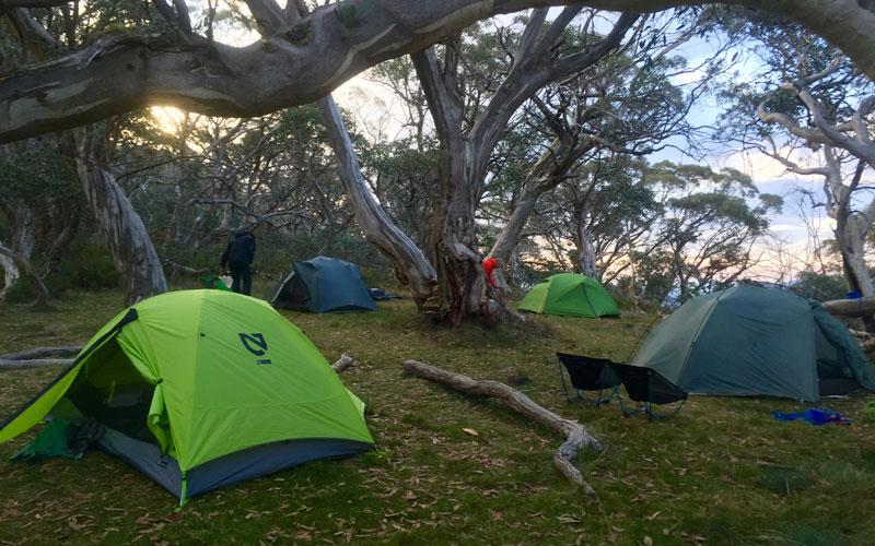 buller huts trail camping