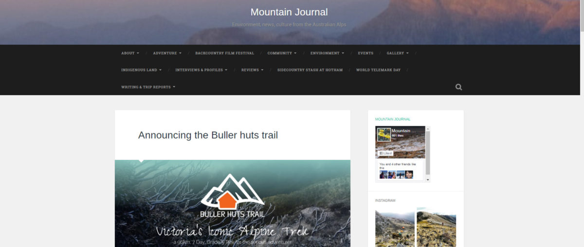 Announcing the Buller Huts Trail